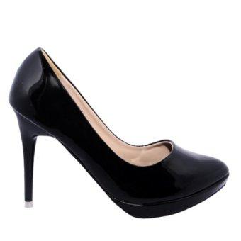 Giày Bít Mũi Cao Gót Đúp 1F Minh Tâm MT717GN (Đen)