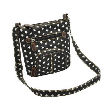 Cotton Cloth Retro Casual Shoulder Bag Crossbody Messager Bag Carry Bag for Women Girls Star Black - intl