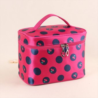 Rose Red Woman Hanging Makeup Cosmetic Toiletry Bag Travel Wash Organizer Case Multicolor - intl