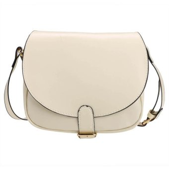 Sunweb Candy Color Women Synthetic Leather Shoulder Strap Cross Mini Small Bag Messenger Tote ( beige ) - intl