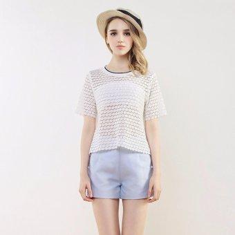 Áo T-Shirt Xuyên Thấu 4461 BRADA & MAXI (Trắng)