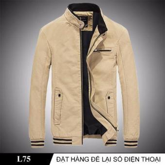 Áo Khoác Kaki Nam Thời Thượng L75 (Kem)