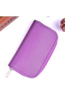 Moonar Card Holder SD CF SDHC MicroSD Memory Card Bag Case (Purple)