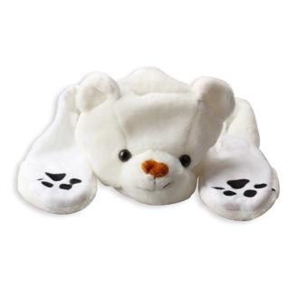 Cute Cartoon Kids Adult Hats Ears Plush Warm Cap Hat Earmuff Scarf Gloves (Intl)