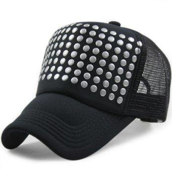 Mens Womens Mesh Trucker Hat Adjustable Snapback Baseball Cap - intl
