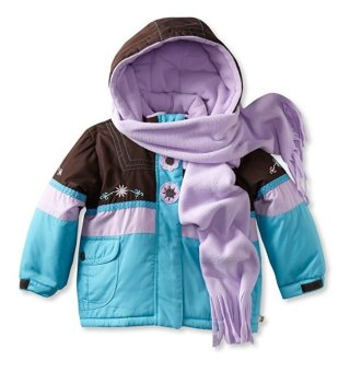 Áo ấm bé gái 2-4 tuổi Rothschild Little Girls' Colorblock Jacket, Cocoa (Mỹ)