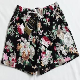 Quần short nữ thun bông hoa thời trang QS-05(Màu Ngẫu Nhiên)