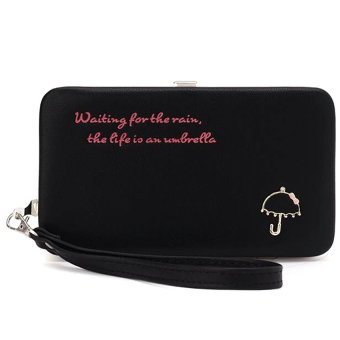 Mua Ví cốp Umbrella viền bọc kim loại Letin Fashion Handbags V6868-6-100 (Đen) giá tốt nhất