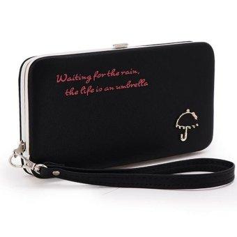 Ví cốp Umbrella viền bọc kim loại Letin Fashion Handbags V6868-6-100 (Đen)