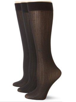 Bộ 3 đôi tất (vớ) công sở Anne Klein Women's Three-Pack Herringbone Trouser Socks (Mỹ)
