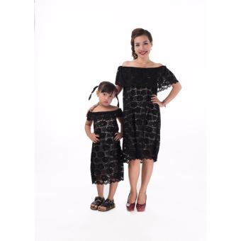 Set đầm ren mẹ & bé cao cấp JasminRose màu đen