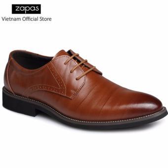 Giày Tây Công Sở Da Thật Zapas - GT019 (Màu Nâu)