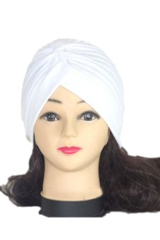 Lalang Adult Unisex Fashion Scarf Hat Knit Ear Cap India Cap (White)