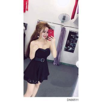 Đầm cúp sexy phối ren