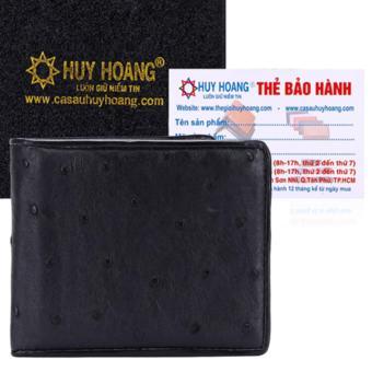 HL2405 - Bóp nam da đà điểu Huy Hoàng (Đen)