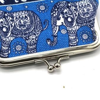 Fashion Women Canvas Lady Wallet Elephant Floral Purse Clutch Bag BU - intl