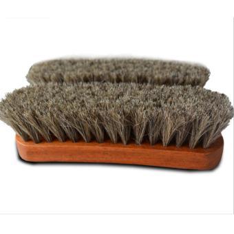 Bàn chải lông bờm ngựa Horse Hair vệ sinh giày,đồ da cao cấp 17cmx5cm