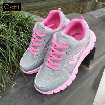 Giày Sneaker Nữ Cá Tính OSANT - SN006 (XAM PHỐI HỒNG)