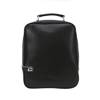 Girl Rucksack PU Leather Backpack Black - intl