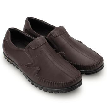 Giày lười nam da bò thật MBMO22 (Nâu)
