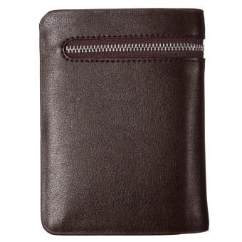 Genuine Leather Men's Bifold Wallet Credit/ID Card Cash Holder Purse Gift New Brown - Intl