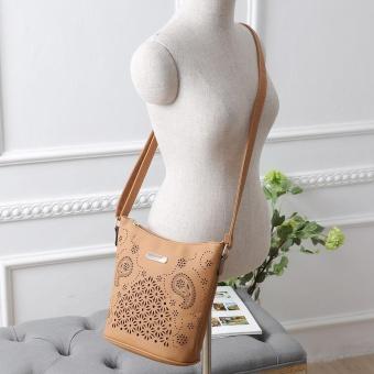 Womens Leather Purse Satchel Cross Body Hollow Out Shoulder Bag Messenger Bag YE - intl