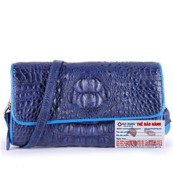 HL6265 - Túi đeo nữ da cá sấu Huy Hoàng màu xanh đậm