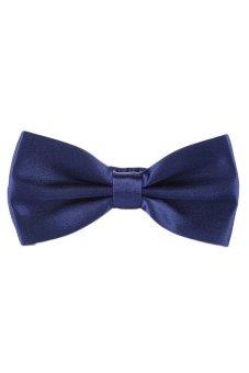 Fancyqube Tuxedo Marriage Butterfly Cravat New Men Bow Tie Dark Blue - Intl