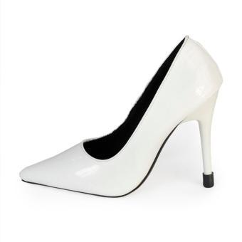 Giày Nữ Gót Nhọn 10cm Da Dập Vân rối HC1329 (Trắng).
