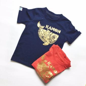 Áo Thun Màu Xanh Biển Logo Kamon