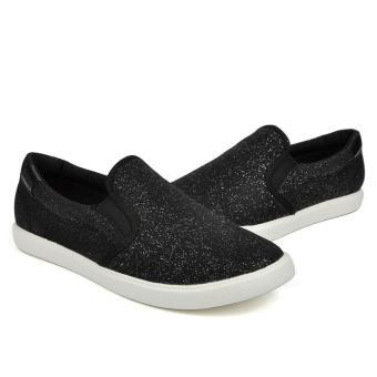 Sneaker nữ Crocs - 203545-0CB - CitiLane Slip on Sneaker W Blk Shmr (Đen)