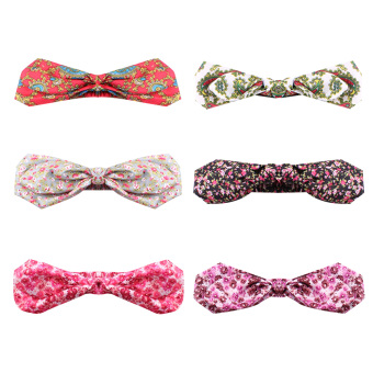 Lovely Girl Baby Bunny Ear Elastic Knot Headbands - intl