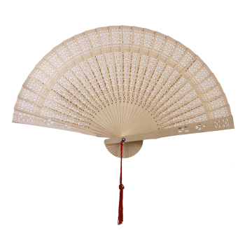 Chinese Japanese Sandalwood Hand Fan Wooden Scented for Wedding Party Gift (Pink) - Intl