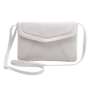 niceEshop PU Leather Women Envelope Satchel Cross Body Shoulder Bags Vintage Handbags(White) - intl