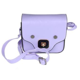 Cute Pig Nose Print Satchel Messenger Shoulder Bag Handbag Cross Body Purse Purple