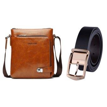 Bộ túi đeo chéo và thắt lưng da nam DTCB14