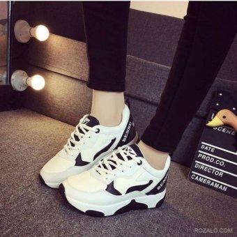 Giày thể thao nữ Sportmax SWG9123HB-Trắng phối đen