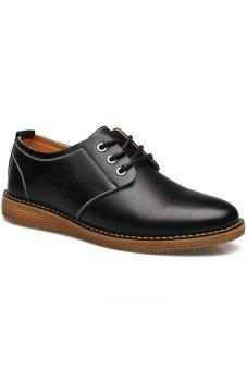 Giày tây buộc dây mũi tròn Zapas G85 (Đen)