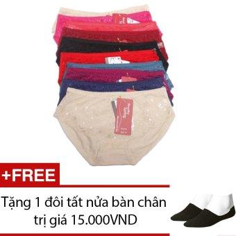 Bộ 7 quần lót ren nữ SoYoung 7DL NU 020 + Tặng 1 đôi tất nửa bàn chân