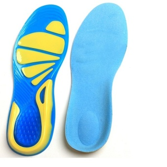 BolehDeals Unisex Silicone Gel Arch Support Sports Insoles Shock Absorption Shoe Pads L - intl