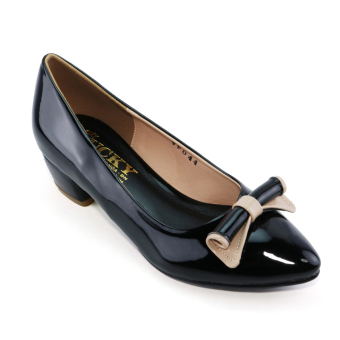 Giày Nữ Phối Nơ VP044 (Đen)