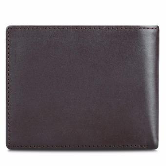 Bộ ví và thăt lưng nam da bò thật LAKA nâu trơn + Tặng 01 ví da bò LAKA (Đen vân cá sấu) trị giá 300.000đ