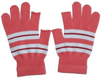 Găng tay cotton nữ Sun Motor SMV001 (Hồng sọc Trắng)