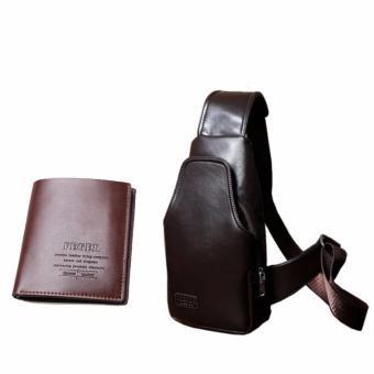 Bộ ví da và túi xách da nam trẻ trung DT2615
