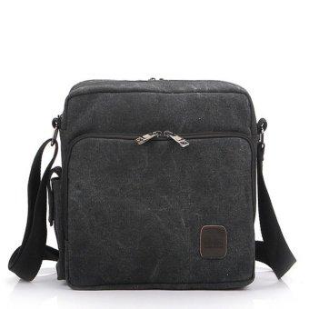 Men's Multifunction Canvas One-shoulder Business Casual Bag Black - Intl