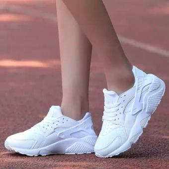 Giày thể thao nữ đế siêu êm, nhẹ - GiayKS - HRC003 (full trắng)