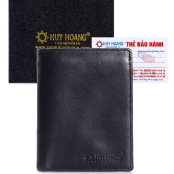 HL2108 - Bóp nam Huy Hoàng kiểu đứng màu đen