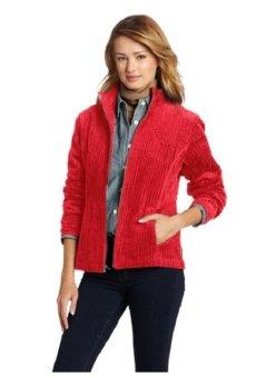 Áo khoác vải nhung đỏ nữ Woolrich Women's Kinsdale Corduroy Jacket (Mỹ)