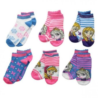 Set 6 đôi vớ Disney Frozen No Show Socks - Vớ 03 (Size 6-8)