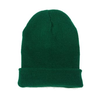 Unisex Knitted Woolly Winter Hat Green (Intl)